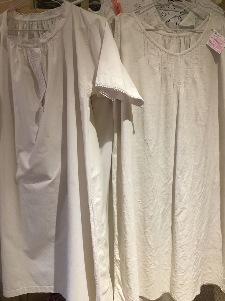Vintage nighties I bought in Paris. Ready for my booth at Vineland antiques.