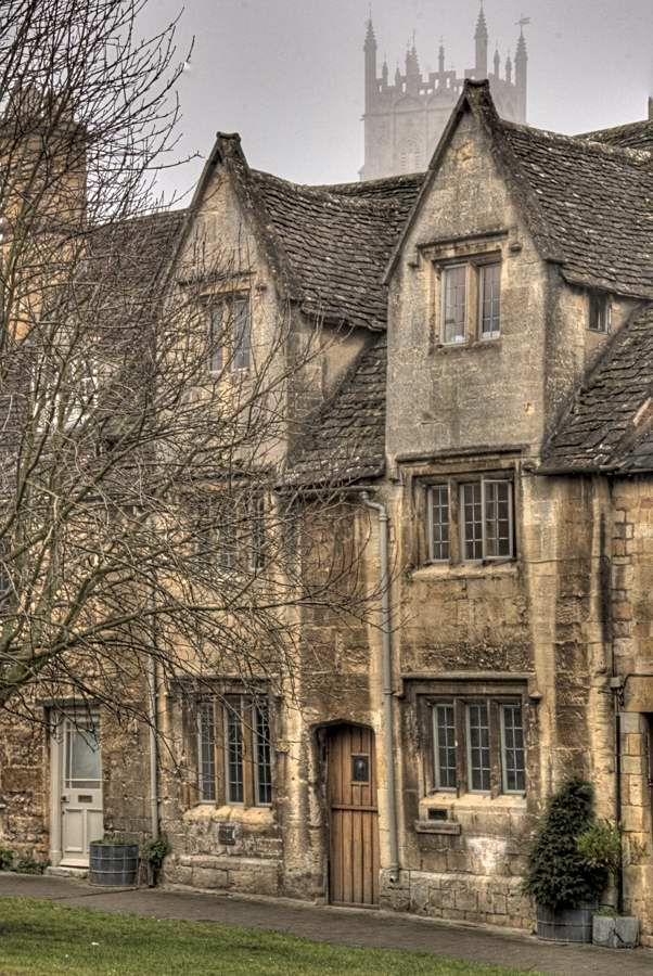 The High Street and Church, Chipping Campden, Gloucestershire, in the Cotswolds