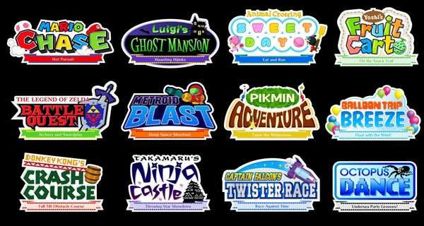 Nintendo Land Mini Game Logos