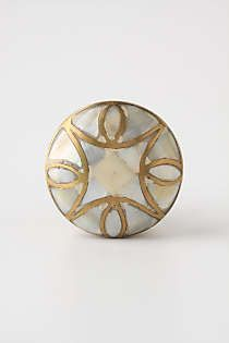Anthropologie - Mother-Of-Pearl Knob .....love the gold