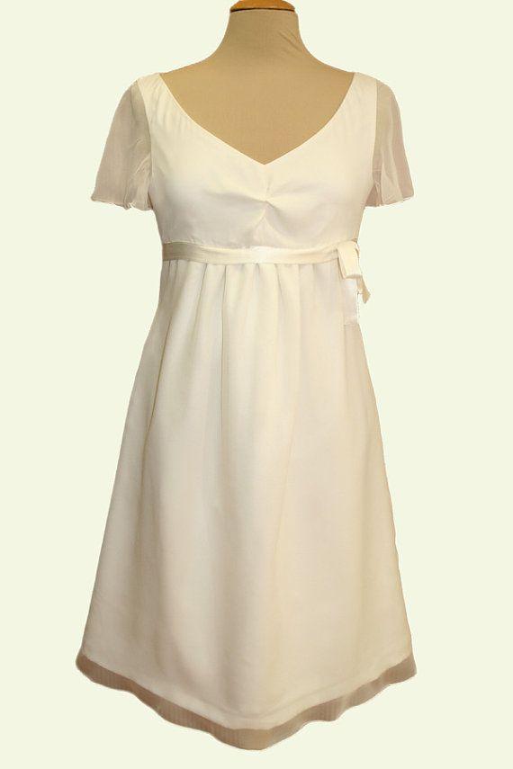 Umstandskleid kurzes Brautkleid für die von LaRoseNoireCouture