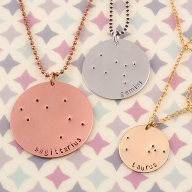 Zodiac, Constellation Jewelry is always so beautiful! Show off your sign by making one of your own.