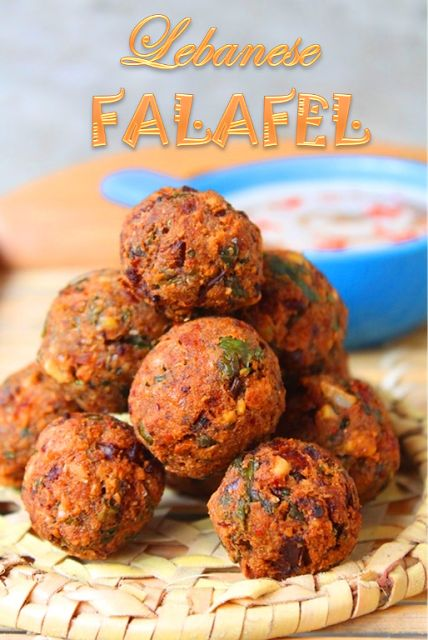 YUMMY TUMMY: Lebanese Falafel Recipe / How to Make Chickpea Falafel Recipe