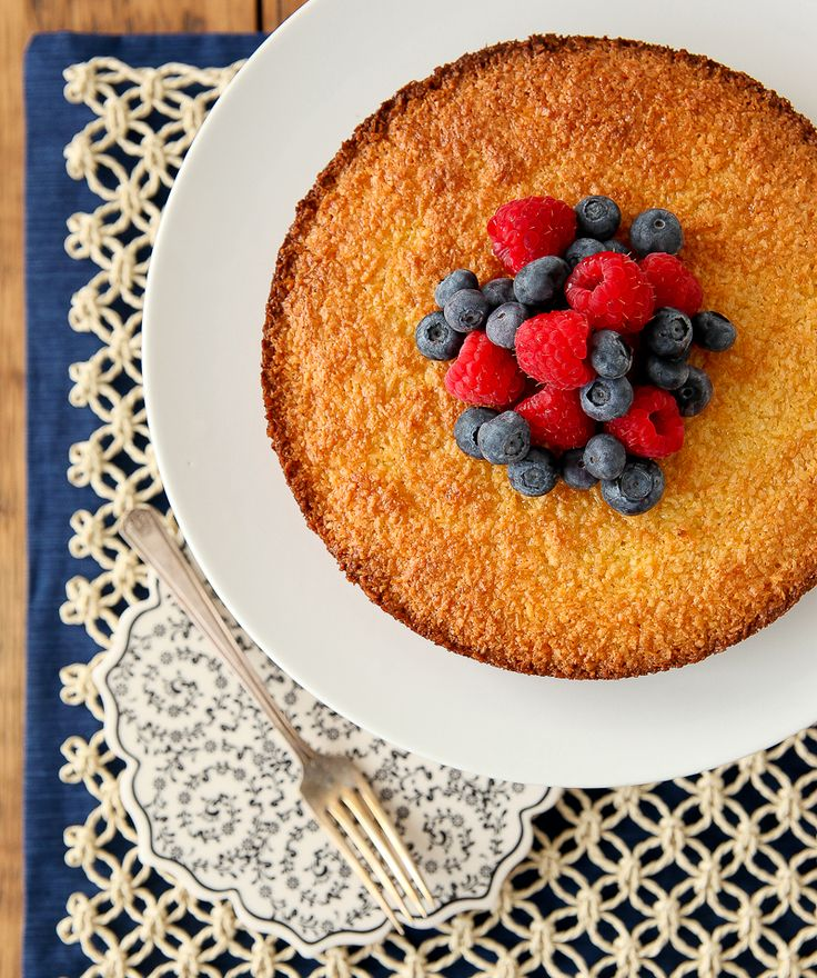 Gluten-Free Coconut Cake with Fresh Berries
