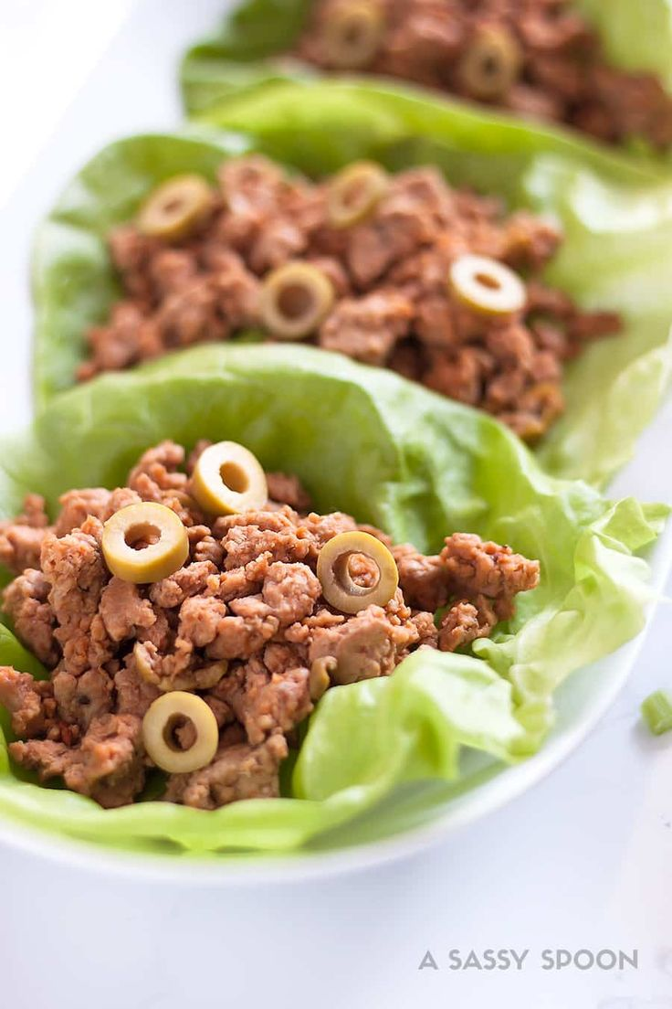 Turkey Picadillo Lettuce Wraps {Seasoned Ground Turkey!}