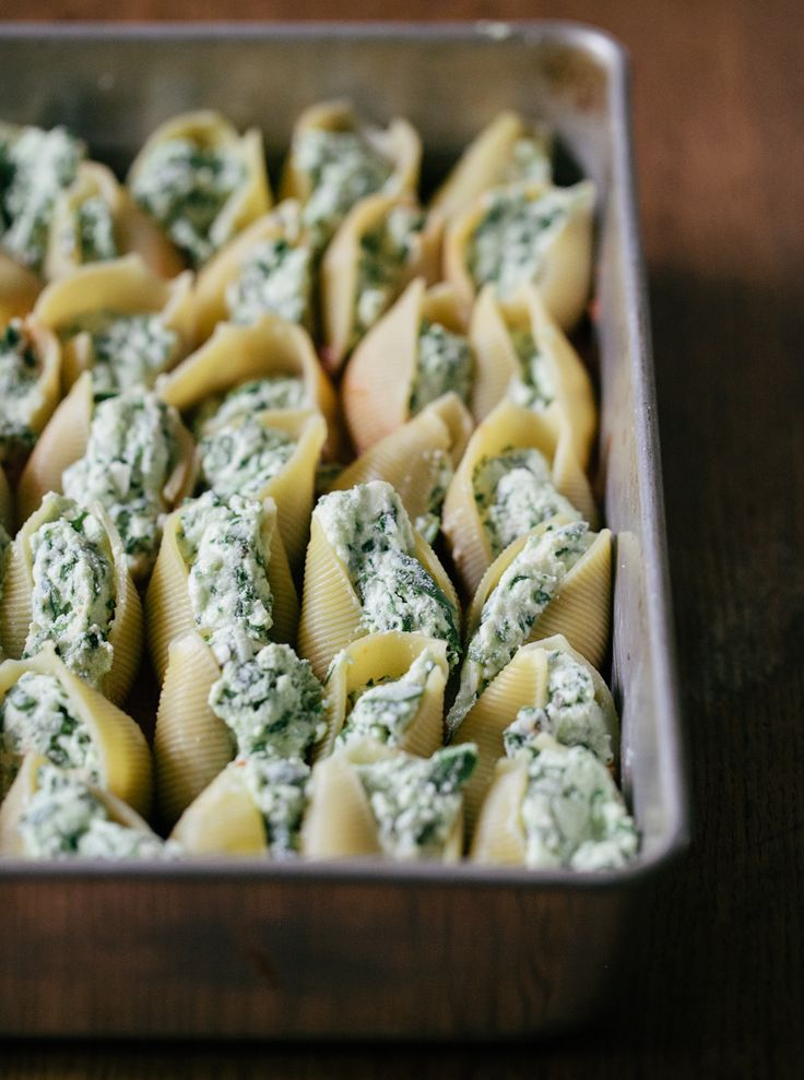 Ricotta Stuffed Shells with Roasted Tomato Sauce | Recipe