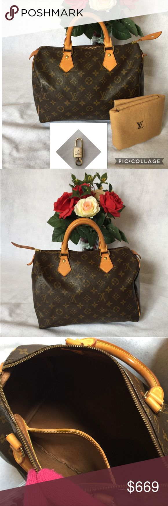 ❤️Authentic Louis Vuitton Speedy 30❤️ Authentic pre owned Louis Vuitton Speedy 30. Made in France, date. Code TH1021. Theirs loose thread on handle part and small ink mark inside yet In very good condition. Clean inside out ready to used. Comes with lock set and dust bag. Please see the pictures for more details. Thanks Louis Vuitton Bags Satchels