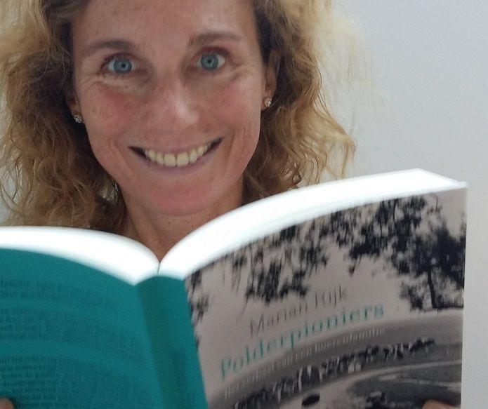 Auteur Marian Rijk met Polderpioniers