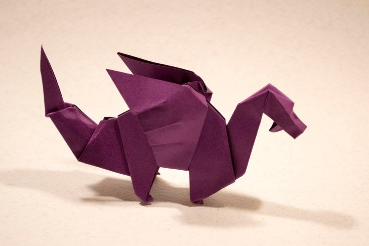 cool origami dragon instructions