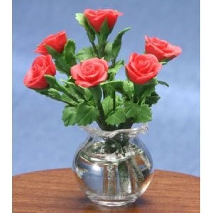 Dollhouse Red Roses - Decorating a Dollhouse for Valentine's Day