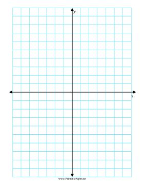 Featuring a grid with half-inch squares, this blue grid paper includes an x and y axis. Free to download and print