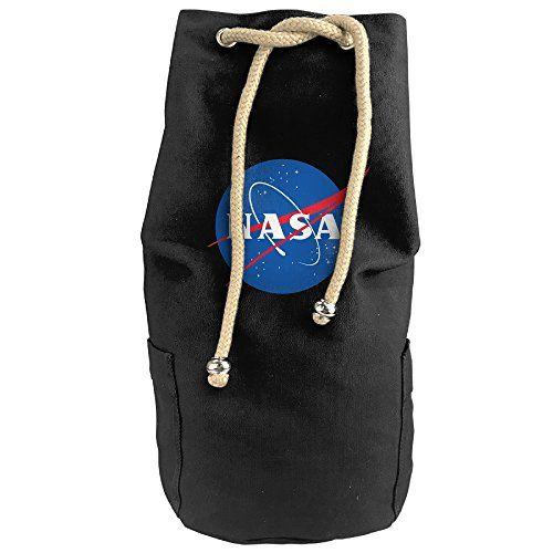 Bandy Nasa 6 Canvas Drawstring Backpack Bucket Bag >>> For more information, visit image link.