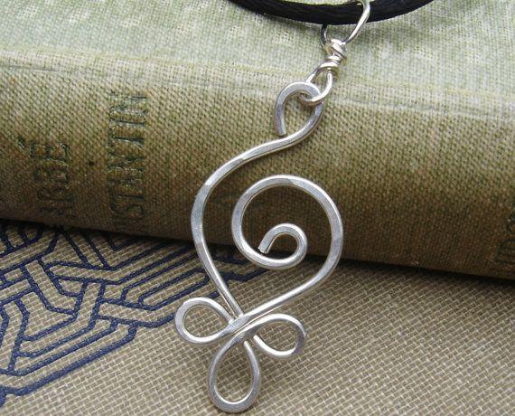 Angehende Spirale Collier keltische Sterling von nicholasandfelice