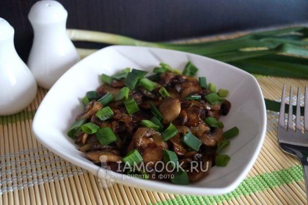 Фото жареных грибов с луком