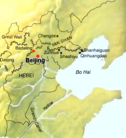 Great Wall in Beijing, Great Wall Map