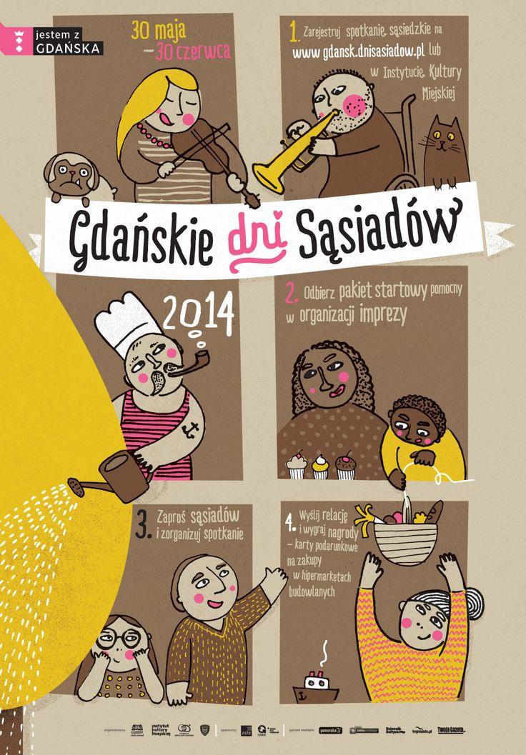 Gdańskie Dni Sąsiadów 2014 / Gdansk Neighbours' Days 2014, projekt/design: Anita Wasik