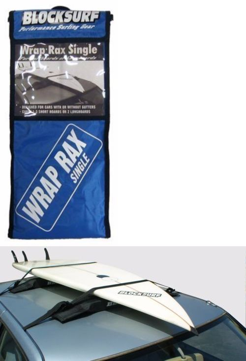Car Racks 114254: Block Surf Wrap Rax Single Soft Rack | Surfboard Roof Rack BUY IT NOW ONLY: $35.95