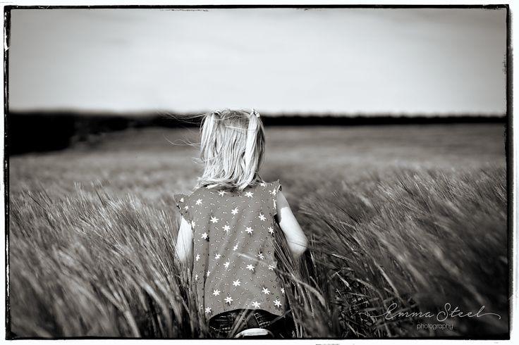 """Little lady in the wheat field"" Photography by Emma Steel"