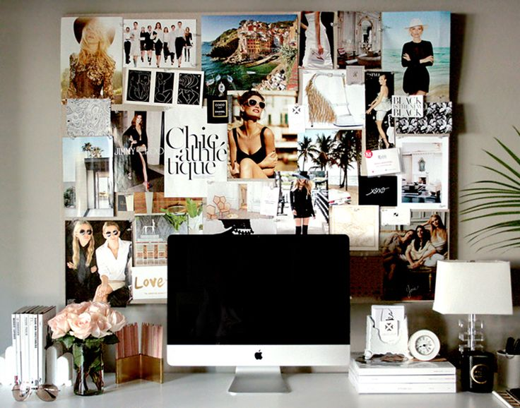small shop Erika Brechtel office desk pinboard