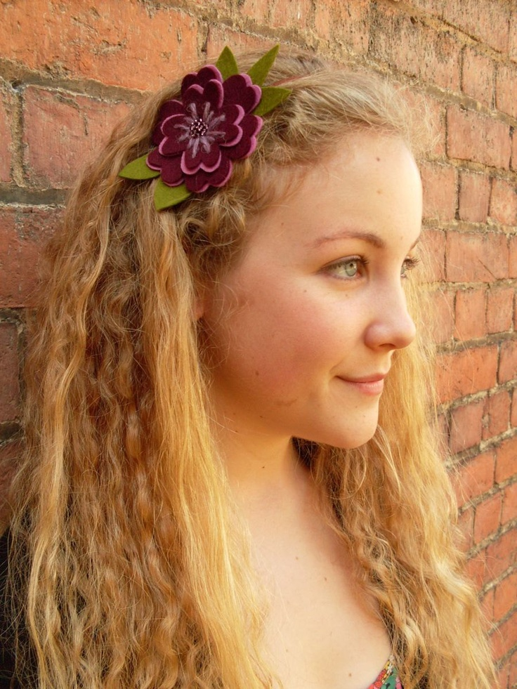 DIY Felt Flower Headband - PDF Sewing Pattern. £3.50, via Etsy......make two!