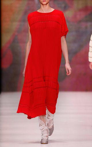 Pleated Knit Midi Dress by KSENIASERAYA for Preorder on Moda Operandi