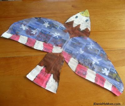 Bald Eagle Craft based on the book Red, White and Boom