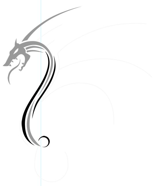 Line Drawing Dragon Tattoo : Best curvy line design tattoo images on pinterest
