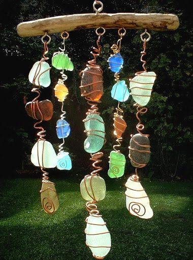 Make a Sun Catcher Sea Glass Chime @Pamela Livingston