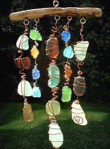 Make a Sun Catcher Sea Glass Chime @Pamela Culligan Culligan Culligan Culligan Livingston