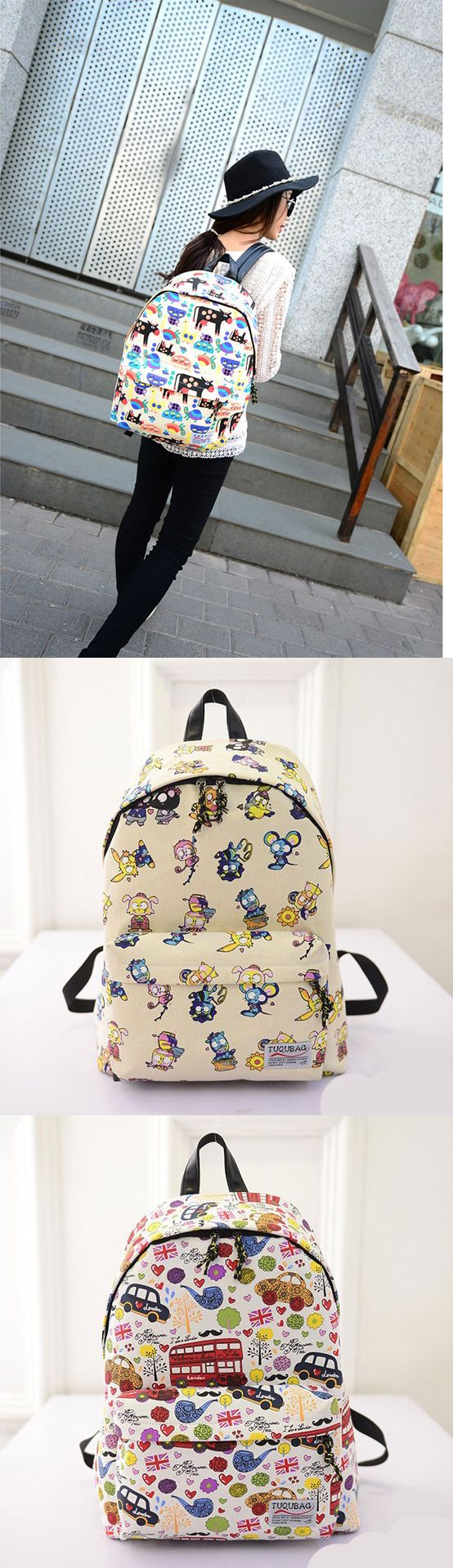 2017 New Arrival Cute Cartoon Casual Mustache British Flag Graffiti Backpack backpacks for girls, pink backpack, mini backpack, cool backpacks, backpacks for women, leather backpack, travel backpack, laptop backpack, school backpacks, cute backpacks,