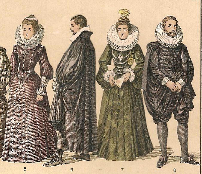indumentaria siglo XVII