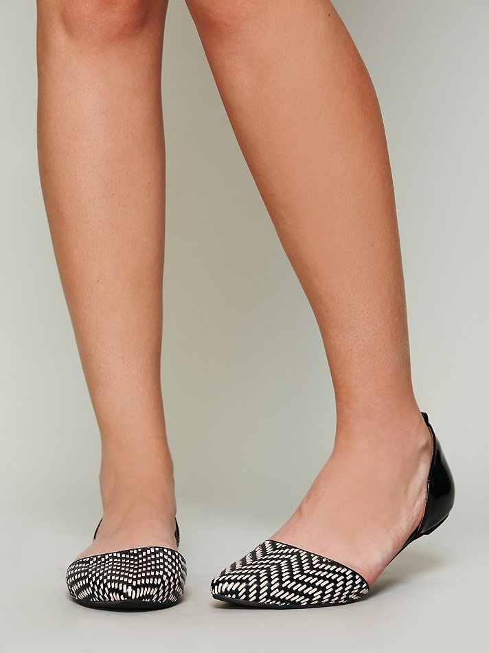 Jeffrey Campbell Roulette Woven Flat at Free People Clothing Boutique