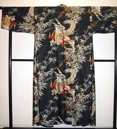 Kimono Goldener Drache