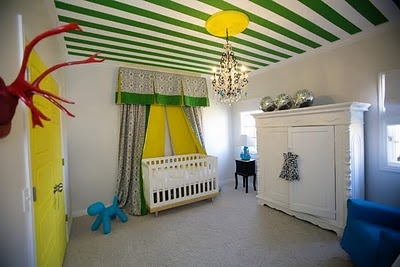 definitely want to do a striped ceiling in Fin's room!