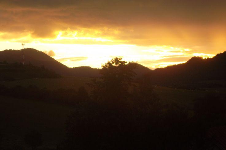 Sunset in Pružina