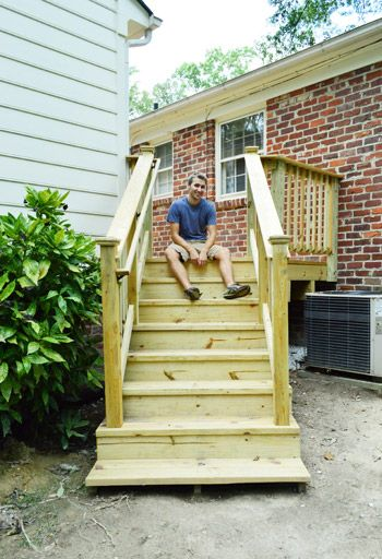 How to build a deck a railing