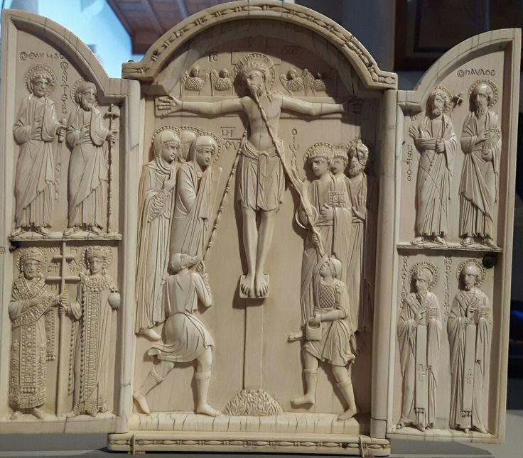 Altare con Crocefissione e Santi. Costantinopoli. XI secolo. Bode Museum