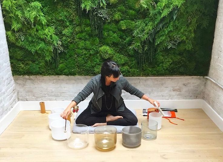 Stress-relieving sound bath recording | Well+Good