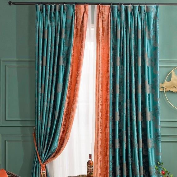 Pin On Kitchend #turquoise #blue #curtains #living #room
