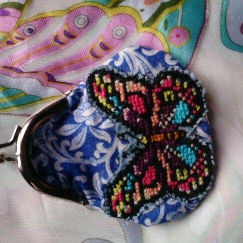 Handmade butterfly purse