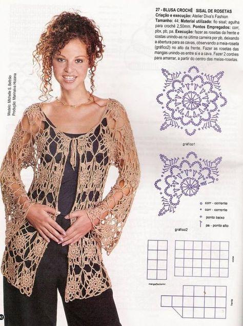 Blusas tejidas a crochet patrones gratis - Imagui
