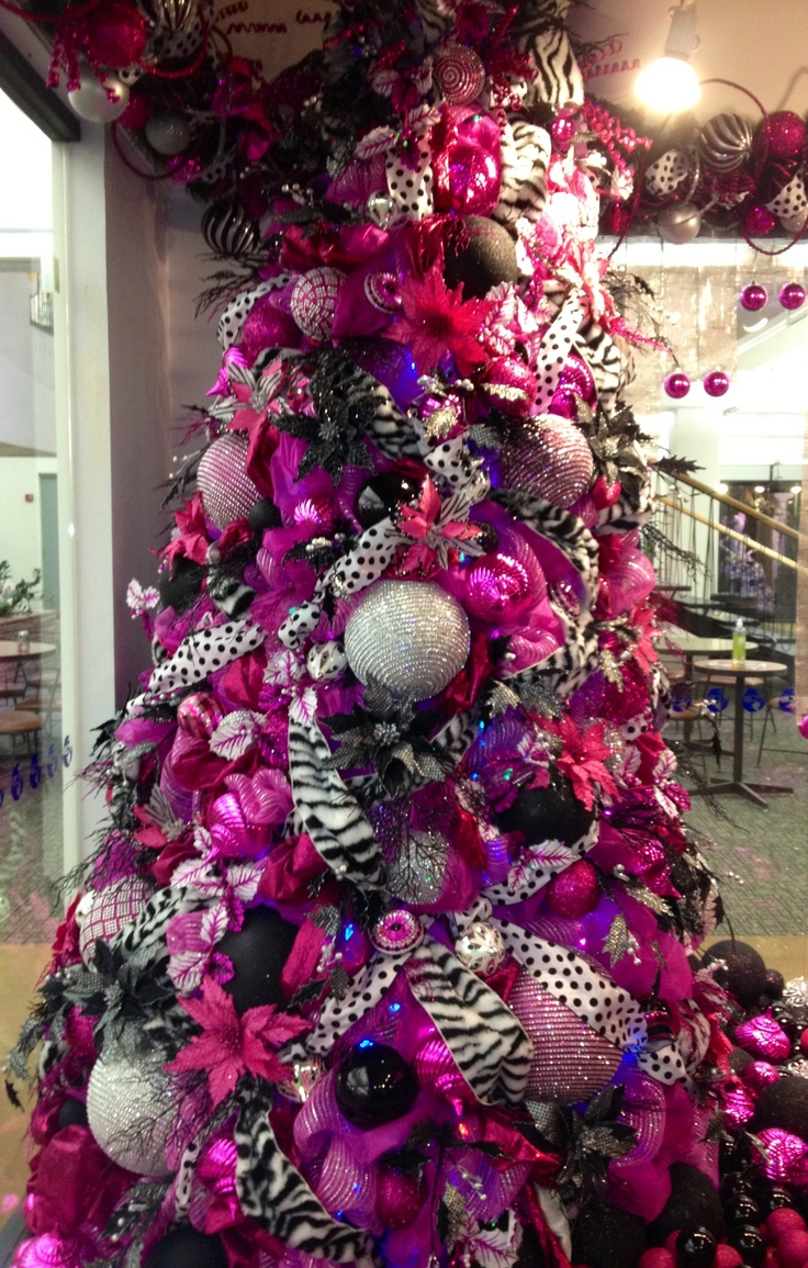 Pink and black christmas tree decorations - Find This Pin And More On Christmas Trees Decorated