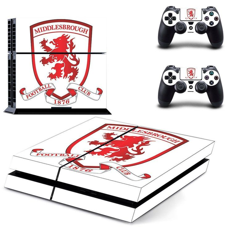 Middlesbrough F.C. ps4 skin decal for console and 2 controllers