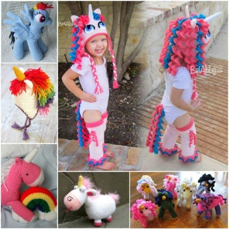Unicorn Crochet Projects - find lots of free patterns on our site