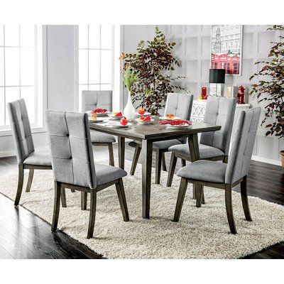Furniture Of America Remi Mid Century Modern Angular Grey Dining Table