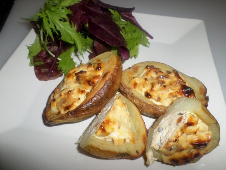 Caramelised Red Onion & Goat's Cheese Potato Shell