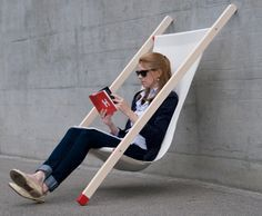'curt deck chair' by bernhard | burkard silver A' design award winner in the furniture, decorative items and homeware design category, 2013-2014