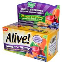 Nature's Way, Alive! Women's Energy multivitamin and mineral. One tablet a day provides essential nutrients for bone, eye, heart, skin and colon health, daily energy, and immune defense. I love that it contains 500mg of calcium, gotta keep those bones strong! Buy from iherb and take advantage of coupon code ITA033 to get 5 dollars off your purchase.