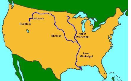 Where Is Missouri MissouriMississipi River System Pinterest - Missouri river on world map