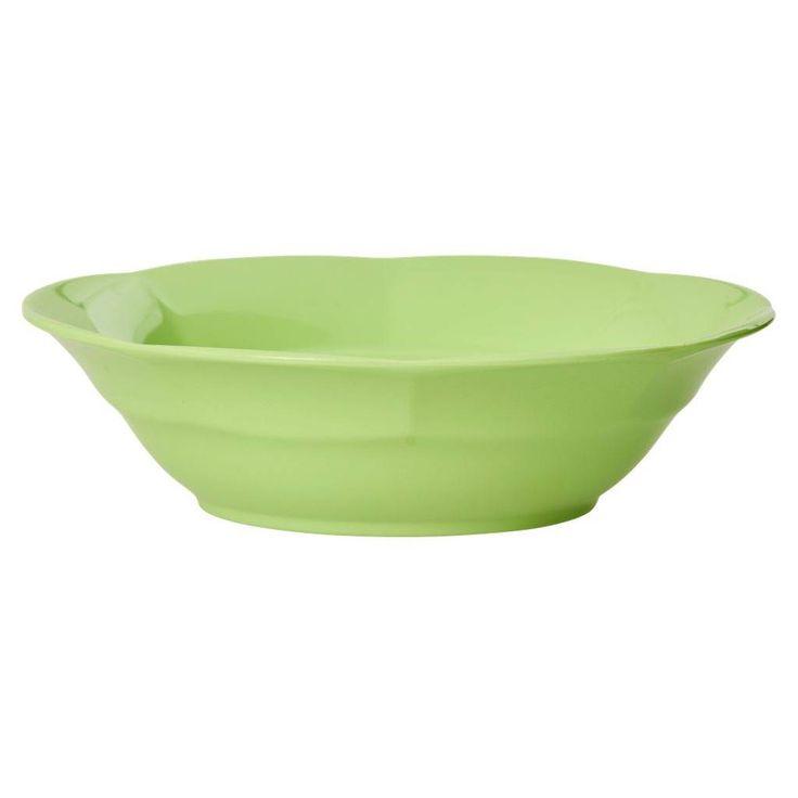 Rice Melamine soepbord neon groen